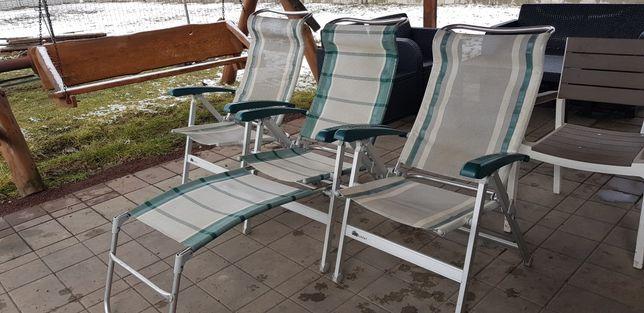 Krzesła Kempingowe Dukdalf 3szt CHA CHA + podnóżek Kamper Przyczepa