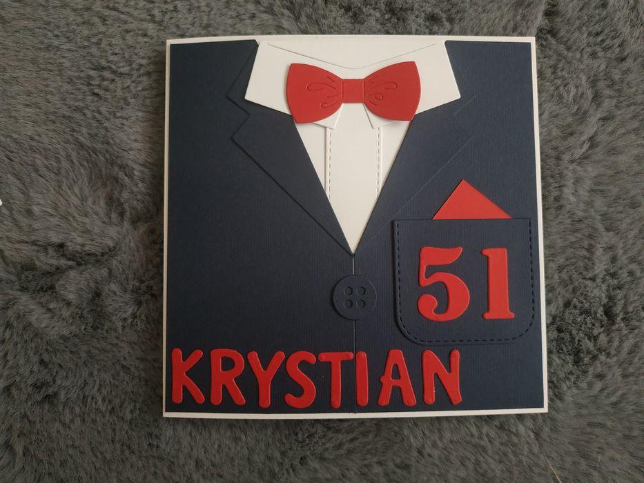 Kartka urodzinowa ręcznie robiona mężczyzny faceta marynarka dowolna Łódź - image 1