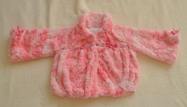 Narzutka futerko różowe 2 latka 92
