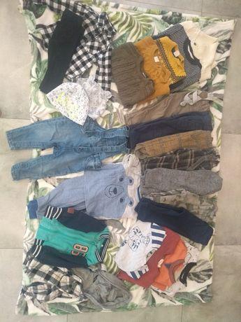 GRATIS Paka ubranka dla chłopca 80 jesienne sweterek bluza zestaw