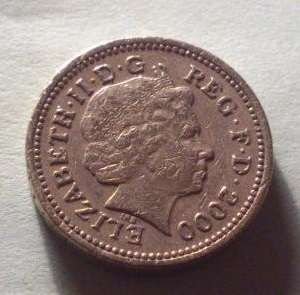 1 Фунт 2000 Год. Великобритания