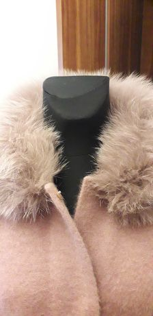 Płaszczyk kurtka alpaka Max Mara Zara Olsen