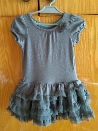 Nowa sukienka dla dziewczynki krótki rękaw Cherokee USA tiul tiulowa