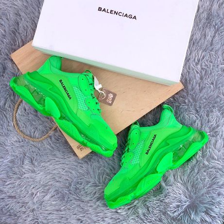 Balenciaga Triple S 36-45 Green buty trampki tenisowki sneakersy