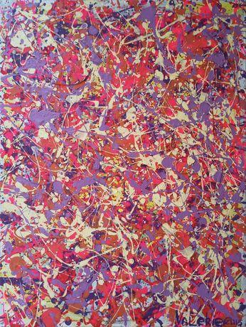 Флюидная абстрактная картина