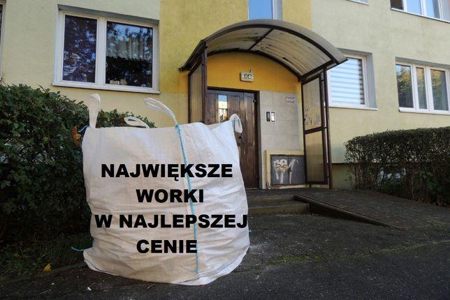 Worki na Odpady Gruz Śmieci BIG BAG Duże 1,5m 250zł Wywóz Gruzu Tanio