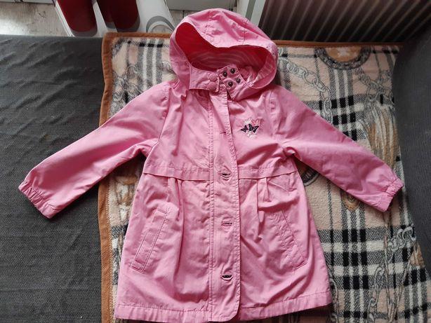 Wiosenny różowy płaszczyk dla dziewczynki roz. 104