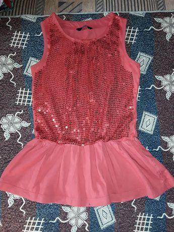 Трикотажное платье  George на 4-5 лет в пайетках, туника, пайетки.