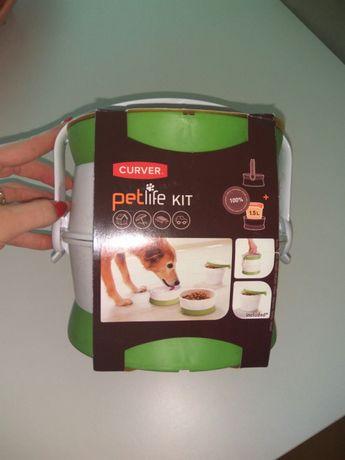 Comedouro/ bebedouro portatil cão/gato