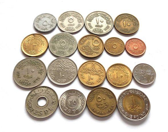 Набор монет Египта (миллимы, пиастры, фунт), Египет, Африка, 18 шт