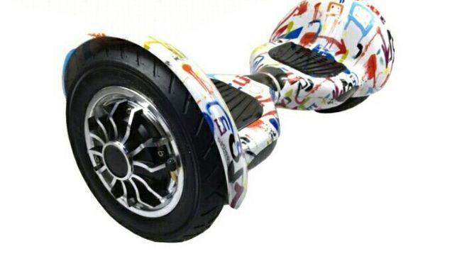 Гироборд 10д Hoverbot (Ховербот) гироскутер Белый графити