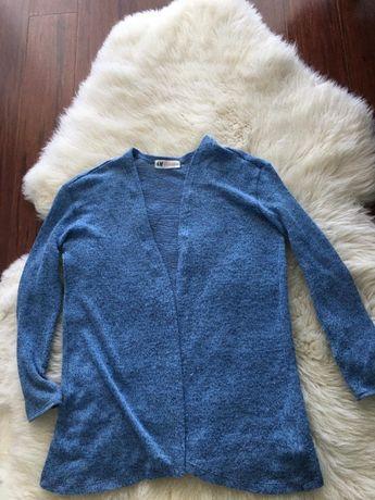 Luźny sweter rozpinany, H&M, roz. 152