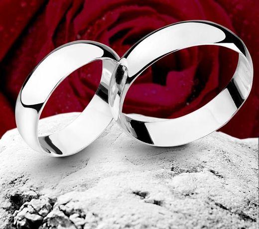 Srebrne Obrączki Półokrągłe 925 7 mm Grawer Etui