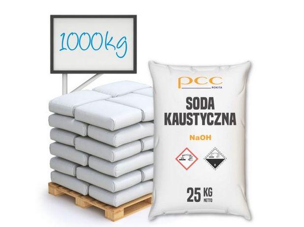 Wodorotlenek Sodu 1000 kg, Soda Kaustyczna - płatkowana