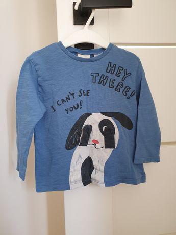 Bluzeczka koszulka zara 86 z pieskiem interaktywna