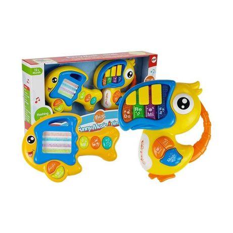 PIANINKO ORGANKI GITARA dla niemowląt keyboard zabawki interaktywne