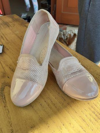 Buty balerinki 34 lakierki śliczne