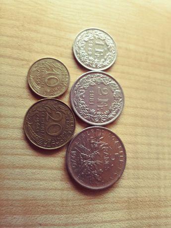 Monety Francja Frank i centy.