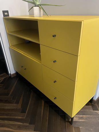 Komoda żółta NOWA VOX 137/48/106