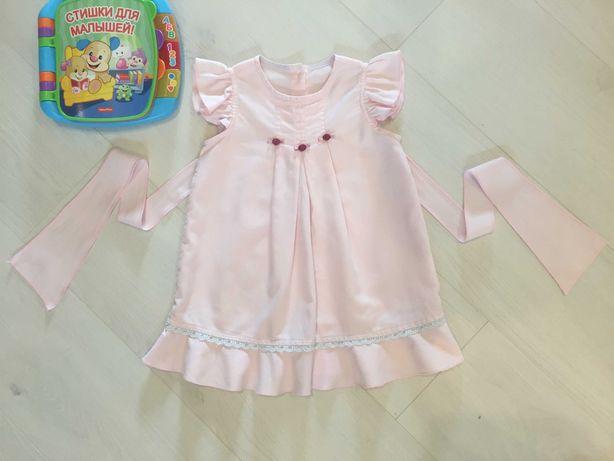 Новое красивое розовое платье (сарафан) на 3-4-5 лет, 104 см, бирка