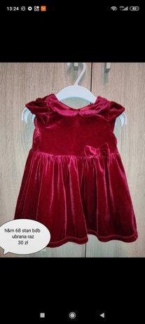 Sukienka hm czerwona 68