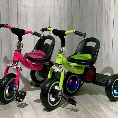 Велосипед детский трехколесный с подсветкой колес и музыкой