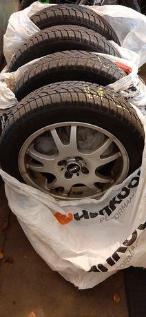 "Alufelgi Mini Cooper One R50 R52 R53 4x100 opony zimowe Dunlop 16"""