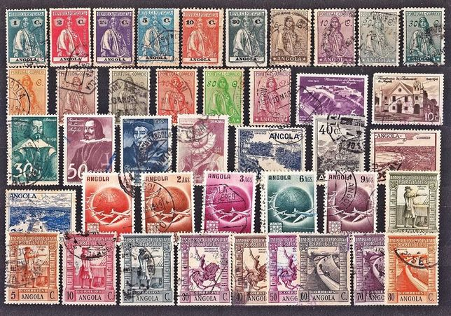 Lote de 180 selos de Angola  - Todos diferentes