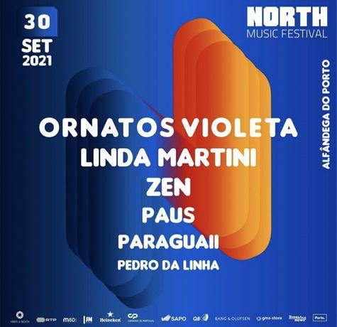 2 Bilhetes North Music Festival Dia 30