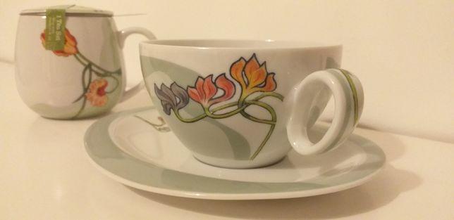 Chávena e bule de chá seltmann weinden