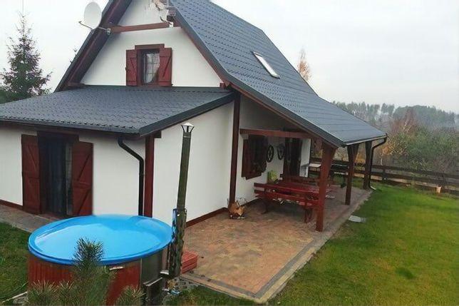 Kaszuby - Komfortowy dom nad jeziorem z kominkiem i banią