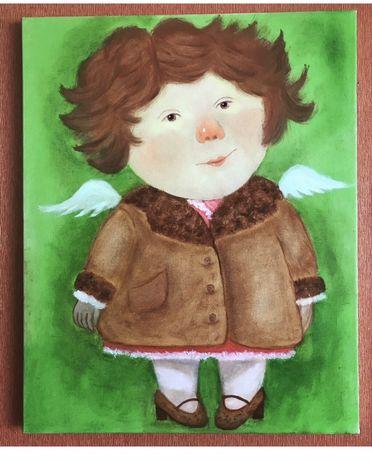 Картина маслом Новое пальто, копии Гапчинской.