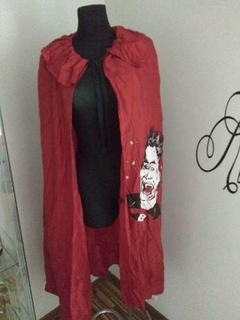 Peleryna na Halloween Dracula czerwona przebranie bal przebierańców