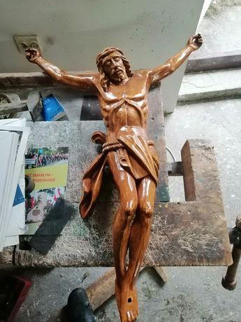 Jezus ukrzyżowany rzeźba ręcznie rzeźbiony w drewnie