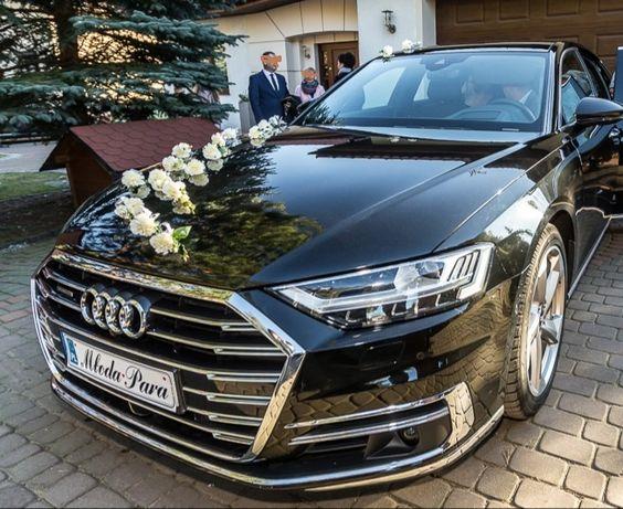 Auto do ślubu Najnowsze AUDI A8 !! 2019r Czarne