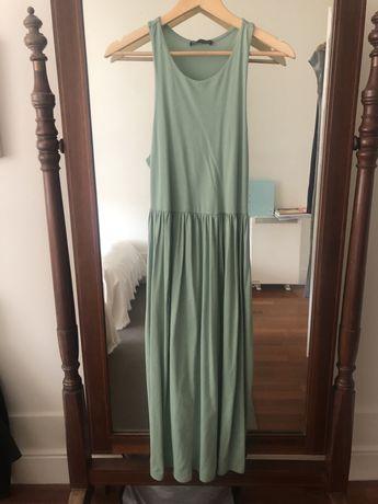 Vestido verde comprido