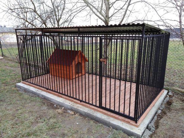 Kojec dla psa 4x2m, klatka, boks, zagroda, wiaty, najwyższa jakość