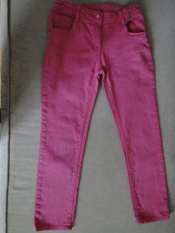 spodnie różowe i jeans roz.122