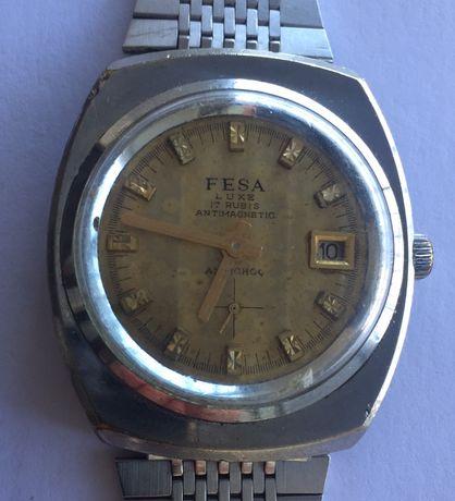 Relógio mecânico antigo de coleção, FESA Luxe