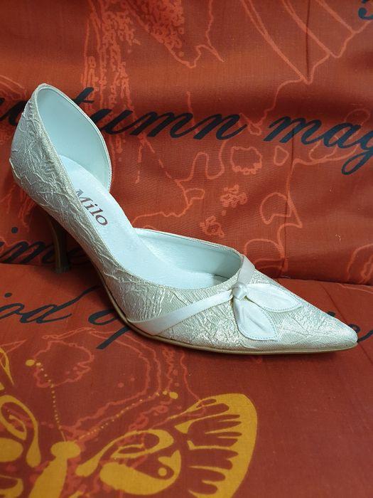 Obuwie ślubne czółenka szpilki buty wizytowe 36 38 Łódź - image 1