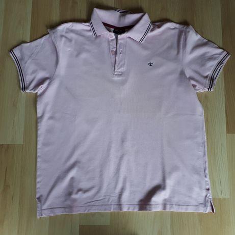 Różowa koszulka polo Champion