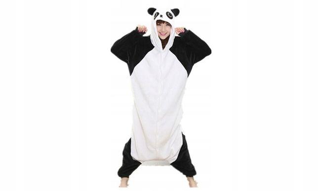 Kombinezon piżama przebranie panda z kapturem rozm.M