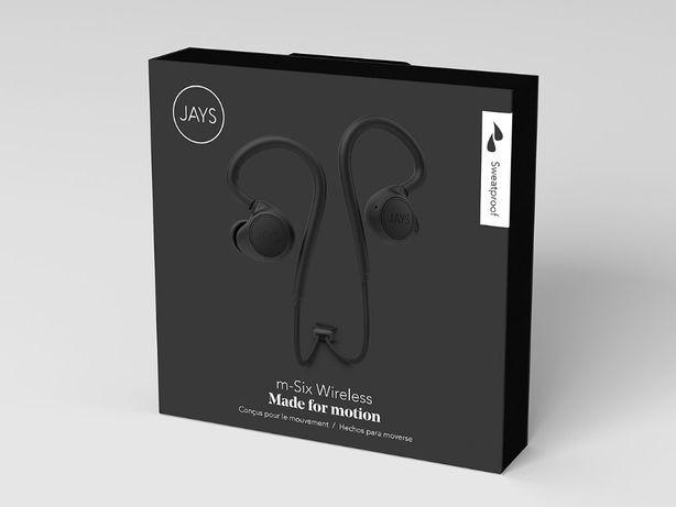 Słuchawki bezprzewodowe Jays m-six Wireless Black- Nowe