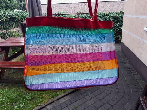 Nowa torba plażowa kolorowa
