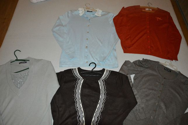 Zestaw 5 ślicznych swetrów,swetr rozmiar M/L JakNOWE CENA za wszystkie