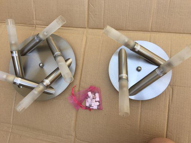 Conjunto de dois candeeiros de tecto
