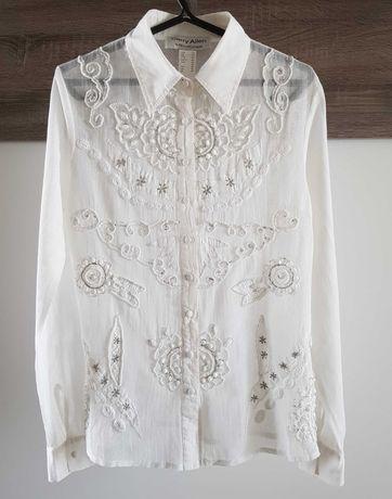 CarryAllen by EllaSingh Biała koszula z bawełnianej siateczki M38