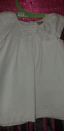 Платье белое размер 6м-1,5г