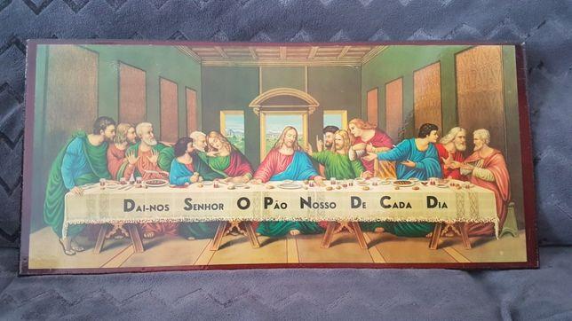 """Quadro """"ceia de Cristo"""""""