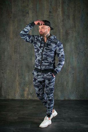 Спортивный костюм мужской милитари на весну. Хит сезона